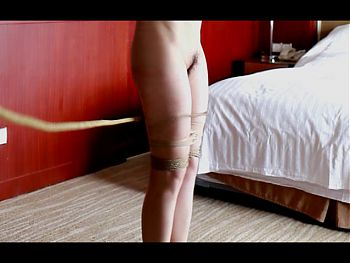 Asian girl suspended whipping 02