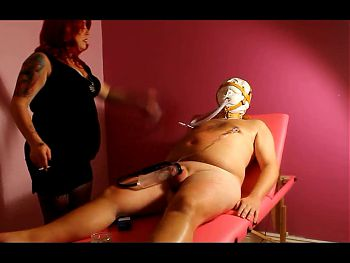 Slave Smoking, Cock Pumping & Whipping BDSM
