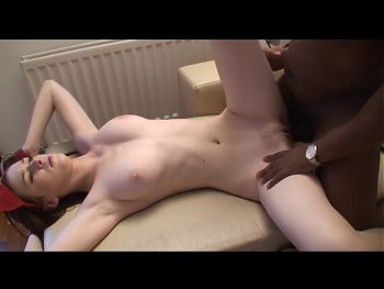 Tied german brunette boned by black man