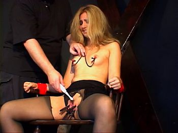Small tits chick in a BDSM session