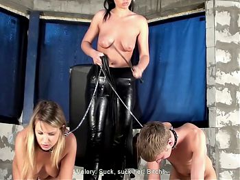 Mistress uses young couple
