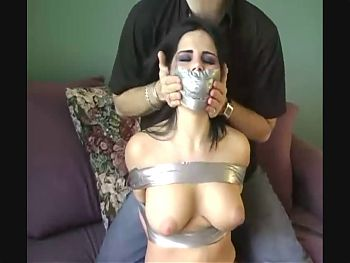 Taped-up Bitchy Teen Tries to Escape