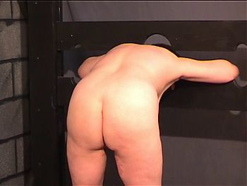 BBW slave gets naked for her master in the punishment room