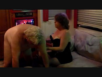 Cuckold Milked by Mistress Lora And new toy double trouble